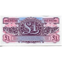 BRITISH ARMED FORCES PAPER CURRENCY 1 POUND NOTE