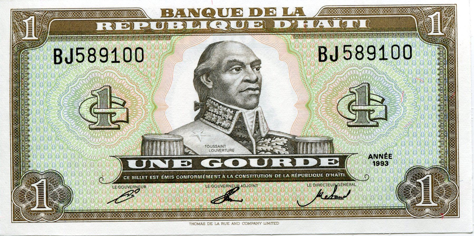 Image 1 Haiti Gourde Paper Currency