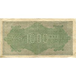 GERMANY 1922 INFLATION PAPER CURRENCY 1000 MARK