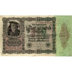 GERMANY LARGE 1922 INFLATION 50,0000 MARK