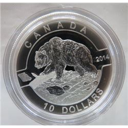 CANADA 2014 PROOF 410 GRIZZLY BEAR COIN