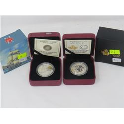 CANADA 2012 PROOF $10 FIRST NATIONS ART MOTHER FEEDING BABY & HMS SHANNON COINS
