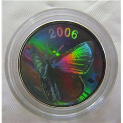 CANADA 2006 PROOF 50 CENT SHORT TAILED SWALLOWTAIL BUTTERFLY COIN