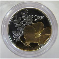 CANADA 2005 PROOF GOLDEN ROSE 50 CENT PC