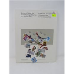 1986 CANADA SOUVENIR COLLECTION POSTAGE STAMPS