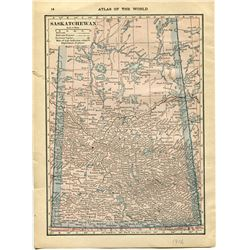 MAP OF SASKATCHEWAN AND MANITOBA 1916