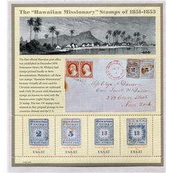 UNITED STATES SOUVENIR SHEET HAWAIAN MISSIONARY STAMPS