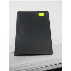 BINDER FOR DISPLAYING PAPER BANK NOTES HOLDS UP TO 16 NOTES. CLEAR PLASTIC PAGES