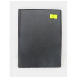 BLACK BANK BOOK 16 CLEAR PLASTIC HOLDERS FOR PAPER MONEY OR CURRENCY