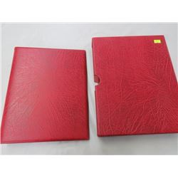 CANADA MINT ISSUED PADDED 3 RING BINDER WIH SLIP CASE