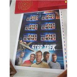 CANADA POST UNCUT PRESS SHEETS STAR TREK TV SERIES 50TH ANNIV