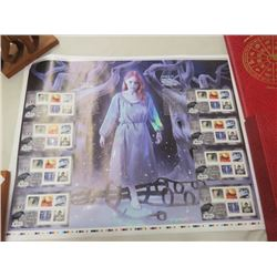 CANADA UNCUT PRESS SHEET STAMPS HAUNTED HOUSE 2015