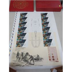 CANADA POST UNCUT STAMP SHEET FRANKLIN EXPEDITION 2015
