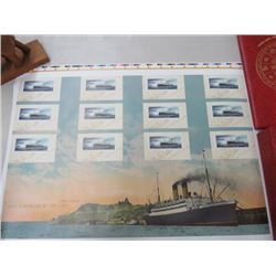 CANADA POST UNCUT STAMP SHEET EMPRESS OF IRELAND 2014