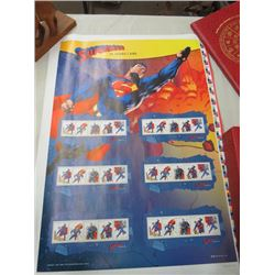 CANADA POST UNCUT STAMP SHEET SUPERMAN 2013