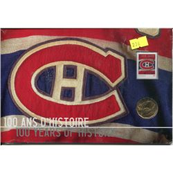 MONTREAL CANADIENS COIN & STAMP 100 YR HISTORY NEVER OPENED