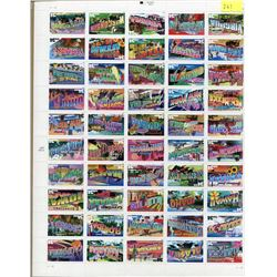 US FULL STAMP SHEET FROM ALL STATES, 34 CENT STAMPS ISSUED 2004