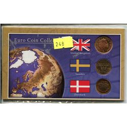 EURO COIN COLLECTION, UK, SWEDEN, DENMARK