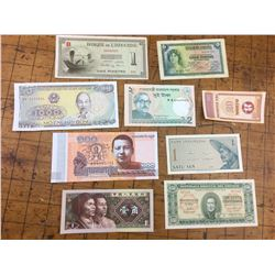Lot of World Bank Notes