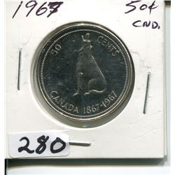 1967 CNDN CENTENNIAL 50 CENT PC