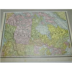 REPRODUCTION MAPS OF CANADA 1882,& SASKATCHEWAN 1910 - 20