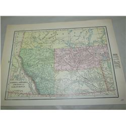 REPRODUCTION MAPS OF WESTERN CANADA, ALBERTA, ASSINIBOIA, SASKATCHEWAN 1891