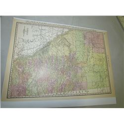 REPRODUCTION MAPS OF ALBERTA, ASSINIBOIA, SASKATCHEWAN APPROX 1891 & 1920
