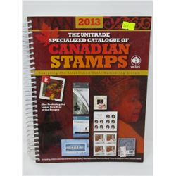 2013 UNITRADE CATALOUG FOR CNDN STAMPS