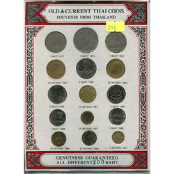 THAILAND 15 OLD AND CURRENT COINS