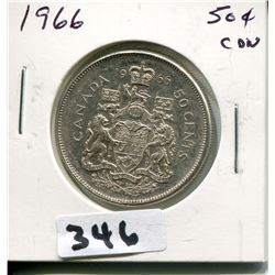 1966 CNDN SILVER 50 CENT PC