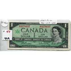 1967 CNDN ONE DOLLAR NOTE