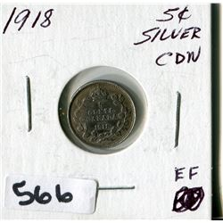 1918 CNDN SILVER SMALL NICKEL