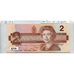 1986 CNDN TWO DOLLAR NOTE