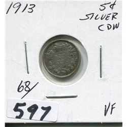 1913 CNDN SILVER SMALL NICKEL
