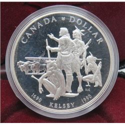 1990 CNDN SILVER DOLLAR WITH CASE