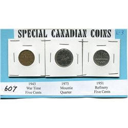SPECIAL CNDN COINS 1943, 73, 51