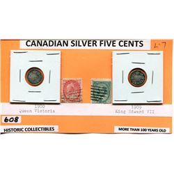CNDN SILVER NICKELS 1900, 09 HISTORIC COLLECTIBLES