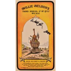 Willie Nelson's 4th Annual 4th Of July Poster