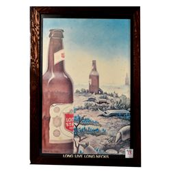 "Lone Star Beer Poster ""Long Live Long Necks"""