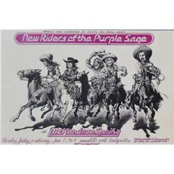 New Riders of the Purple Sage Concert Poster