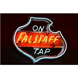"Falstaff Beer Neon Sign. ""On Tap"""