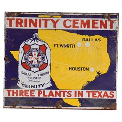 Trinity Cement Texas Porcelain Sign
