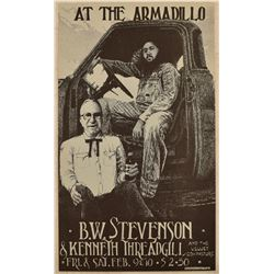 B.W. Stevenson And Kenneth Threadgill AWHQ Poster