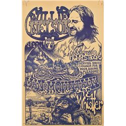 Willie Nelson Armadillo World Headquarters Poster