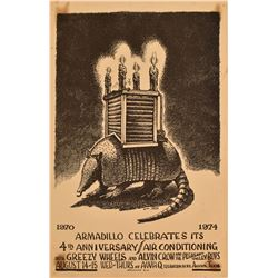 Armadillo World Headquarters Anniversary Poster