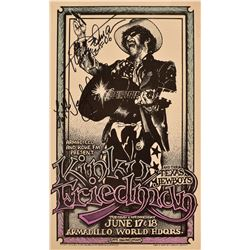 Kinky Friedman Armadillo World Headquarters Poster