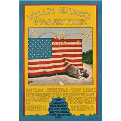 Willie Nelson's First 4th Of July Picnic Poster