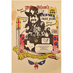 Willie Nelsons 2nd 4th of July Picnic Poster