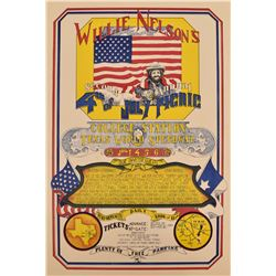 Willie Nelson's 2nd Annual 4th of July Poster