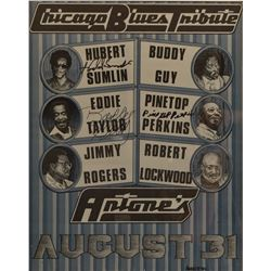 Antone's Chicago Blues Tribute Poster Autographed